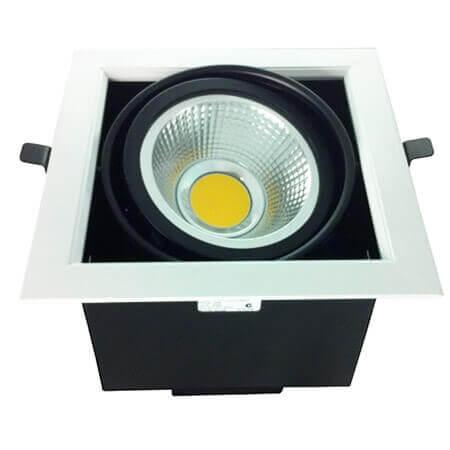 lack Color 7W COB LED Grille Light Downlight