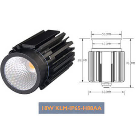 18W Cree Chip Dimmable LED Down Light Modul