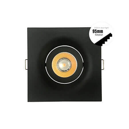 90mm square black led downlight kits 240v