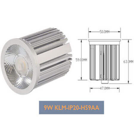 9w Dimmable LED Module Downlights