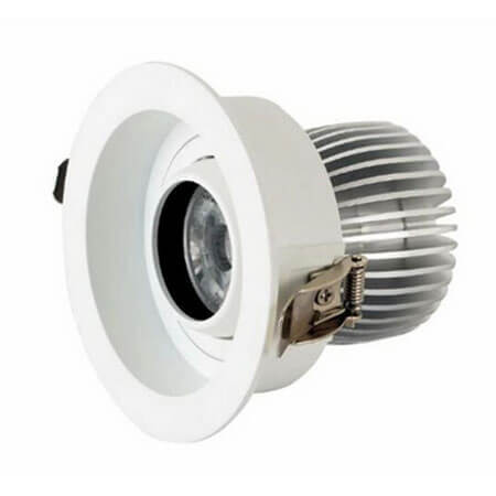 12W Round LED COB Downlight for hotel