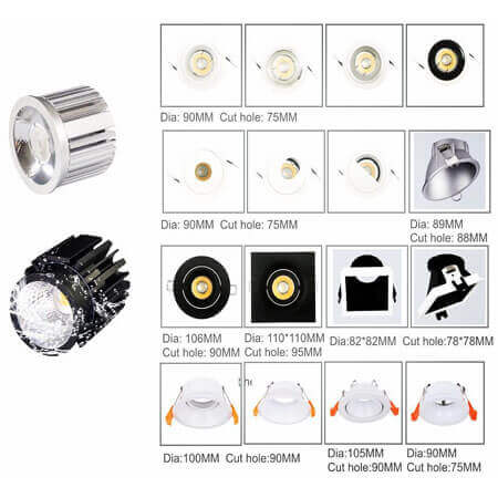 MR led module downlight fitting series