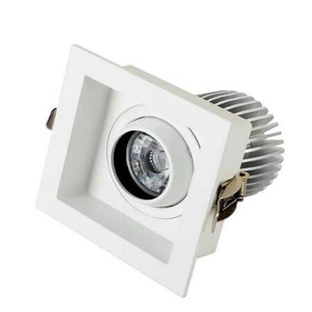 Square downlight for hotel