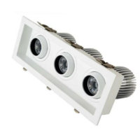 adjustable 12X3 3head recessed led down light