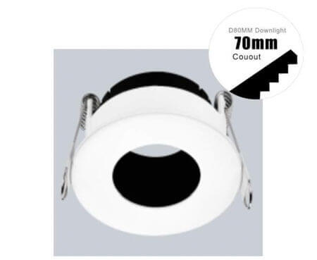 round hole fitting module down light