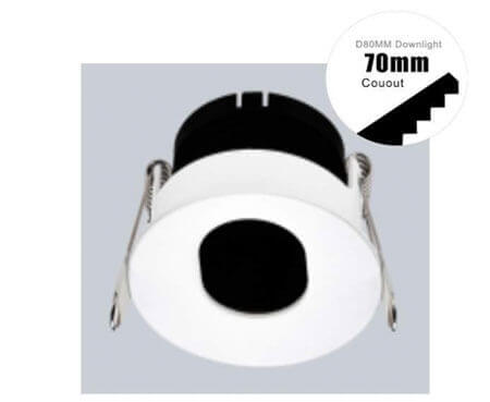 single hole fitting module downlight