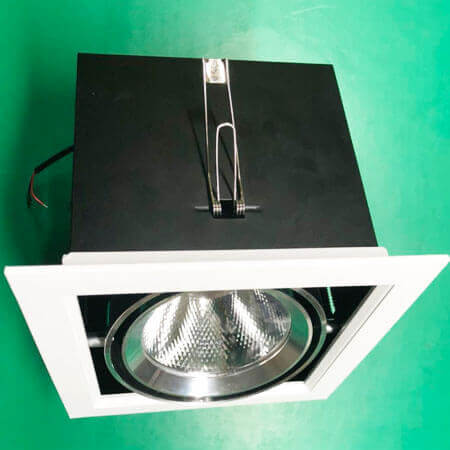 recessed led grille down light for G12 AR111