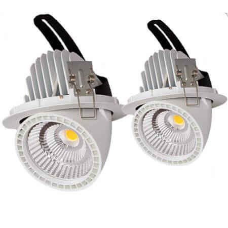30w led gimbal down light for shop